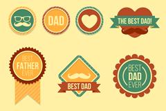 10款复古父亲节标签矢量素材