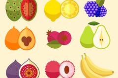 9款彩色水果和切面设计矢量素材