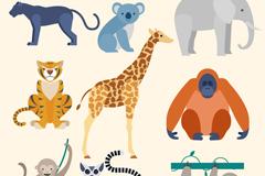 9款卡通野生动物设计矢量素材