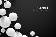 白色圆形质感气泡矢量素材