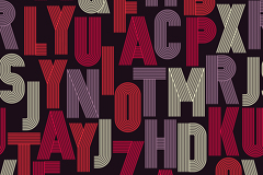 质感条纹字母无缝背景矢量图