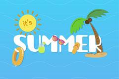 创意夏季SUMMER艺术字矢量素材