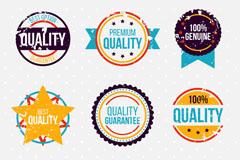 9款彩色做旧效果优质标签矢量素材