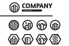 13款创意房地产公司图标矢量素材