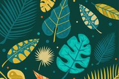 创意彩色叶子背景矢量素材