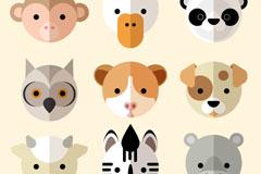 9款可爱动物圆形头像矢量素材