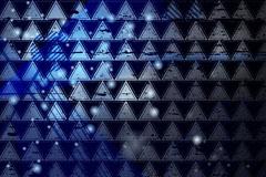 时尚蓝色三角无缝背景矢量图