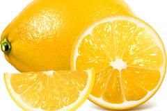 新鲜黄色柠檬和切片矢量素材