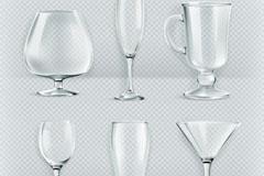 6款创意玻璃杯设计矢量素材