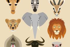 9款野生动物头像设计矢量素材