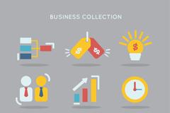 9款精致商务图标设计矢量图
