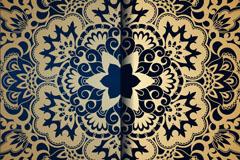 精美金色对称花纹背景矢量素材