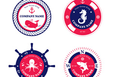 4款航海元素公司标志矢量梦之城娱乐