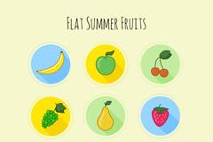 9款彩绘水果图标矢量素材