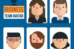 5款商务团队人物头像矢量素材
