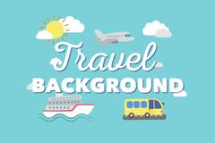 3个创意旅行交通工具元素背景矢