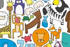20款创意动物园动物矢量素材