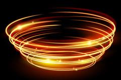 金色螺旋环光晕矢量素材