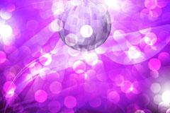 紫色霓虹灯球和光晕背景矢量素材