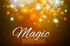 彩色魔法闪光光晕背景矢量素材