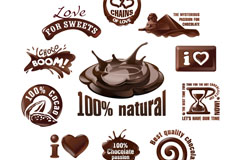 11款创意巧克力标志矢量素材
