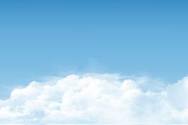 蓝色天空中的云层矢量优发娱乐