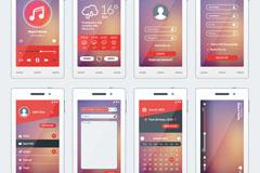 8款创意手机扁平化界面矢量素材