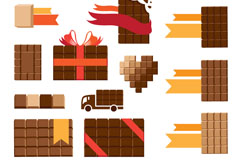 17款方形巧克力设计矢量素材