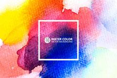 彩色水彩晕染背景矢量素材