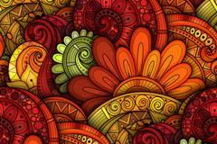 彩色质感花纹背景矢量素材