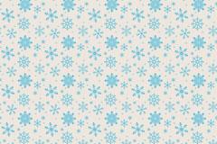 蓝色雪花纹无缝背景矢量素材