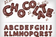 26个创意巧克力字母矢量素材