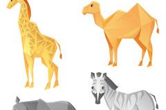 4款创意几何动物设计矢量素材