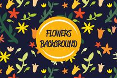 缤纷彩色花卉背景矢量素材