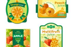 4款彩色果汁标签矢量梦之城娱乐