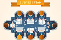 8个创意商务会议人物俯视图矢量优发娱乐
