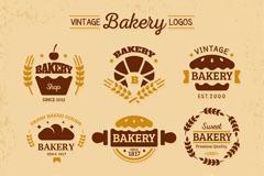 9款复古面包店标志矢量素材
