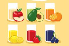 6款扁平化水果果汁乐虎娱乐