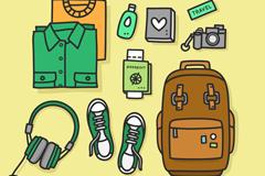 9款创意旅行物品矢量素材