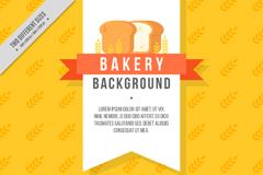 创意黄色烘培元素面包背景矢量图