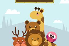 5种可爱动物园动物设计矢量素材