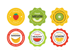 9款彩色果汁标签矢量素材