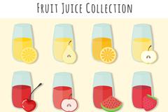 12款美味水果汁设计矢量素材