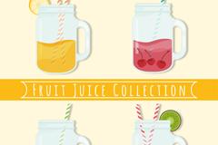 4款美味水果汁设计矢量素材