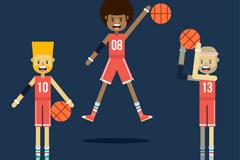 3款创意篮球运动员矢量素材