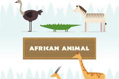 6款创意非洲动物侧面矢量素材