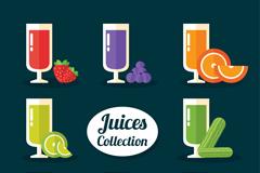8种彩色扁平化果汁矢量素材