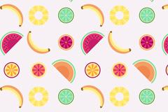 彩色水果无缝背景矢量素材