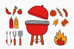 15款彩色烧烤元素矢量素材