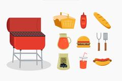 11款创意烧烤野餐元素矢量素材